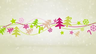 christmas symbols loopable holiday background