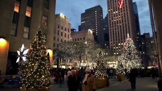 Christmas Tree and Lights in New York City 4