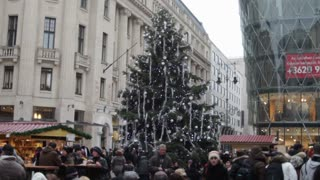 Christmas Tree In Romanian Square