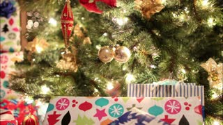 Christmas Tree With Presents Timelapse