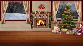 Christmas TV Studio Set 03 - Virtual Green Screen Background Loop