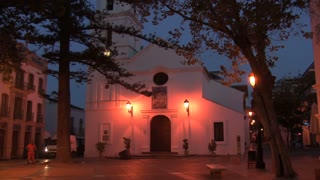 Church At Night In Nerja