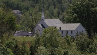 Church Building Among Trees