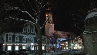 Church On Main Street At Night