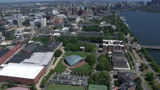 Cinematic Aerial Tracking Shot Over Mit Campus, Cambridge, Massachusetts