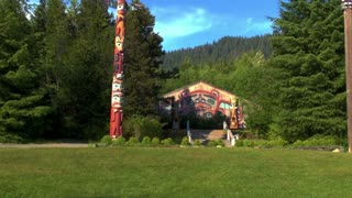 Circle of Tall Totem Poles