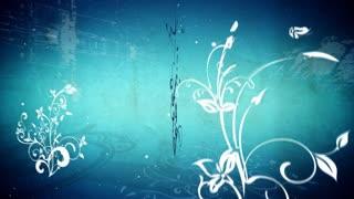 Circling Blue Flourishes