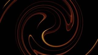 Circular Golden Swirl