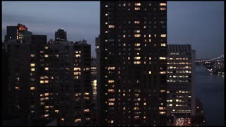 city at night. skyline skyscrapers towers. new york. nyc