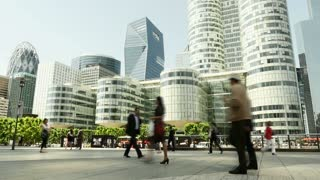 city lifestyle background. real estate buildings. people. business professionals