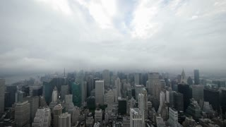city night time lapse nyc skyline foggy clouds