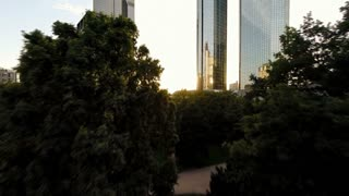 city park. bank banking. skyline. real estate. landmarks