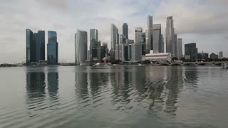 City Skyline, View across Marina Bay to the Financial and Business district of Singapore, South East Asia
