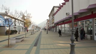 City Square with Shops in Romania