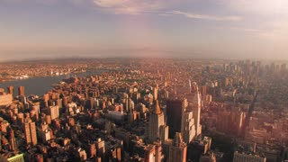 cityscape skyline aerial view sunrise time lapse