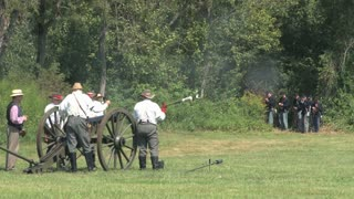 Civil War Battlefield Reenactment