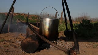Civil War Camp Cooking Steaming Pot