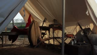 Civil War Camp Inside Tent