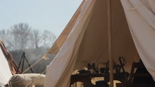Civil War Camp Tent Morning