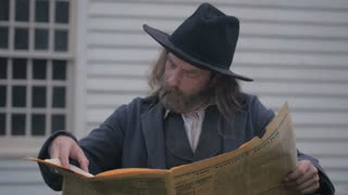 Civil War Era Man Reading Newspaper