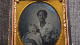 Civil War Photo Woman and Child