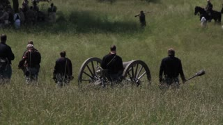 Civil War Reenactor End of Battle