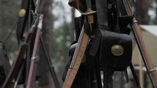 Civil War Stacked Rifles