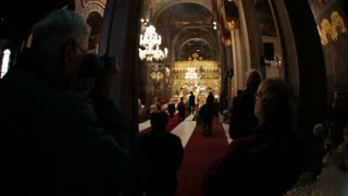 Civilians Inside Romanian Church