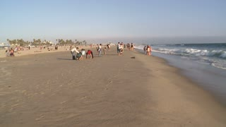 Clear Sandy California Beach Timelapse