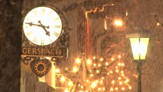 Clock And Street Lights In Snow 3