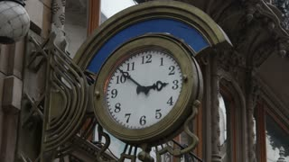 Clock In Romanian Street Corner
