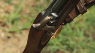 Close Up Civil War Musket