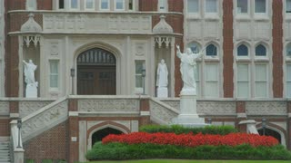 Close Up In Front Doors At Loyola University, New Orleans