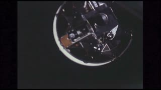 Close Up Lunar Module in Space