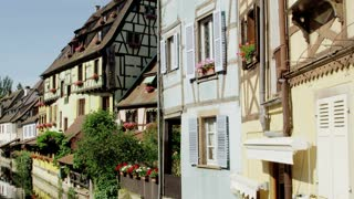 Close Up of Houses Along Colmar, France Canal