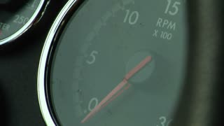 Close-up Of Rpm Monitor On Truck's Dashboard