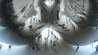 Close Up of The Bean In Chicago