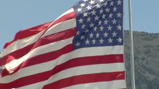 Close up on American flag