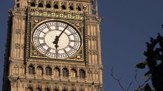 Close Up on Big Ben Clock