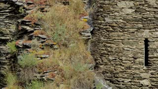 Close Up Shoenburg Castle Old Stone Wall