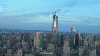 Close View NYC Freedom Tower Aerial
