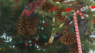 Closeup Decorated Christmas Tree