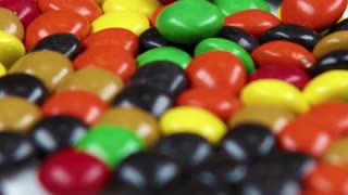 Closeup of M&M Candy