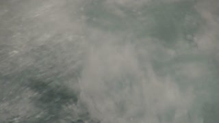Closeup of Motorboat Wake