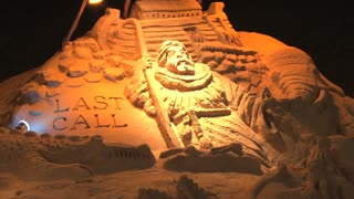 Closeup of Sand Sculpture on Ocean City Beach 3