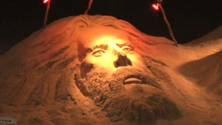 Closeup of Sand Sculpture on Ocean City Beach