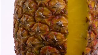Closeup of Sliced Pineapple