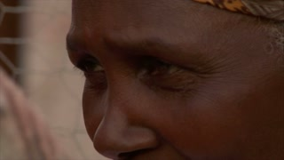 Closeup on African Womans Face