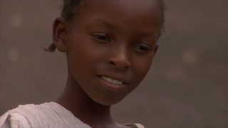 Closeup on Little Childs Face in Kenya