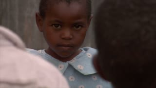 Closeup on Little Girls Face in Kenya